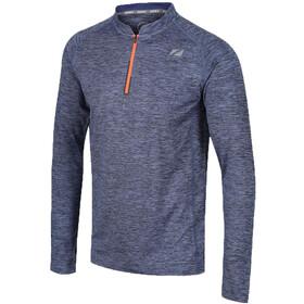 Zone3 Soft-Touch Technical Longsleeve T-shirt Heren, grijs/oranje